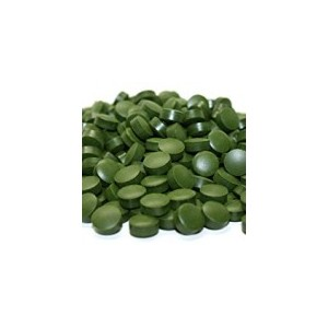 chlorelė (Chlorella) tabletėmis, 125 g.